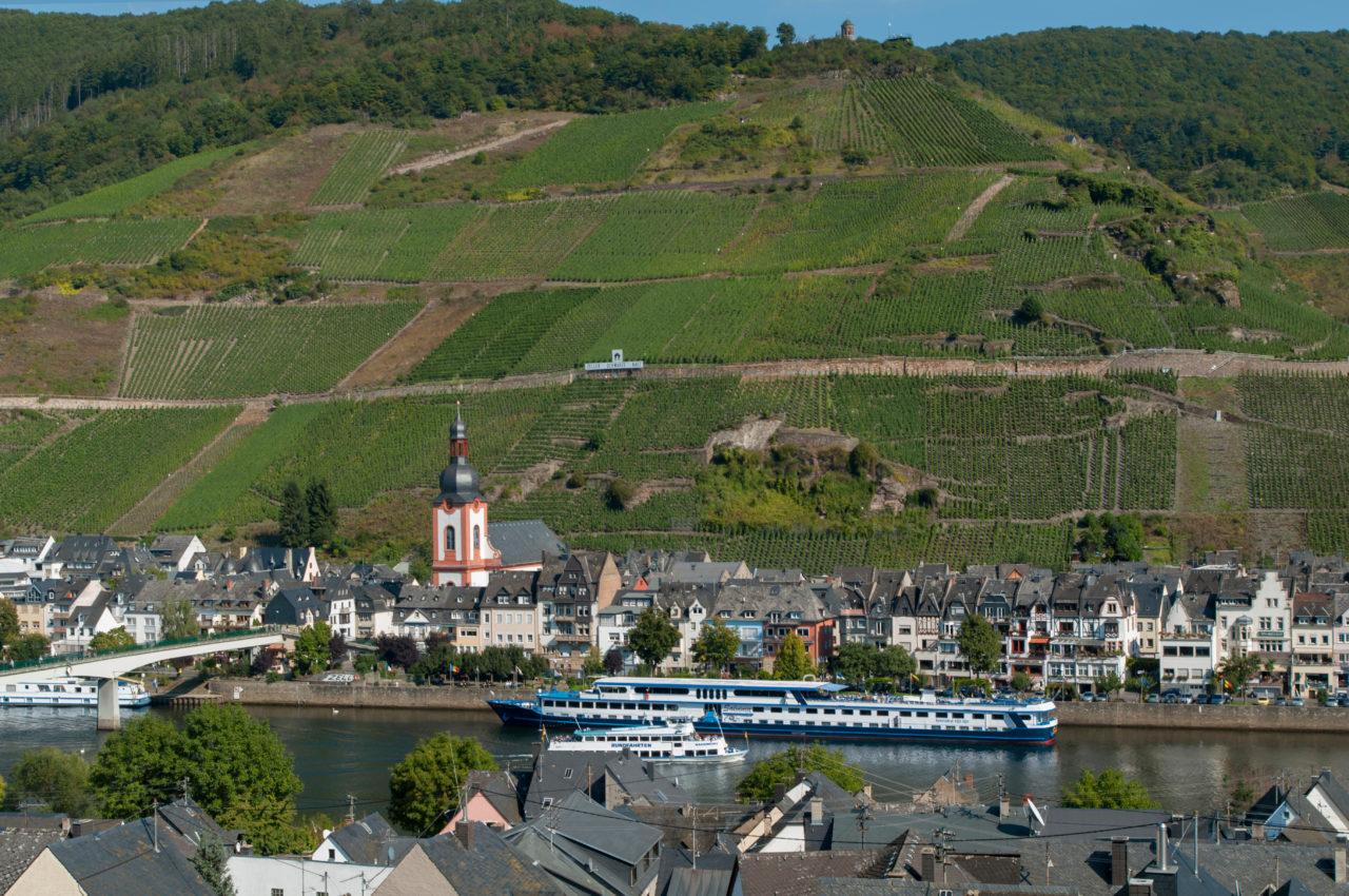 Stadtbild von Zell Mosel